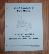 CUB CADET 6000 & 7000 SERIES 630 48 IN ROTARY CUTTER PARTS MANUAL