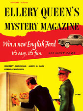Ellery Queen's Mystery Magazine V25 No 2, Whole No 135 February1955 Poster 24x32