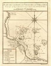 'Plan de la Rade & Ville de… Vera-Cruz'. Veracruz, Mexico. BELLIN 1754 old map