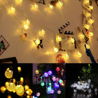 Solar Powered 30 Led String Light Garden Path Yard Decor Lamps Outdoor Holiday