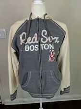 Cooperstown Collection Women's Sweatshirt sz L Red Sox MLB Boston Baseball Zip