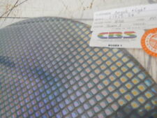 "Dichroic Glass:CBS 90 COE Boxes 1 Pattern Rainbow on Thin Black - 3""Sq"