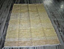 Large Beautiful Rug Amazing Gold White Zari Cotton Traditional Persian Carpet Ru