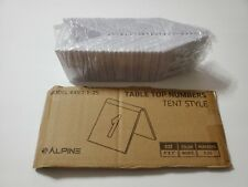Alpine Industries Tent Style 2 Sided Table Top Event Party Number Cards 25pc 3x3