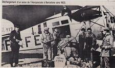 1983  --  DECHARGEMENT  UN AVION DE L AEROSPATALE A BARCELONE VERS 1923   3F103