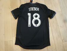 NWT Adidas 2018/19 DC United #18 Zoltán Stieber Authentic Black Home Jersey (L)