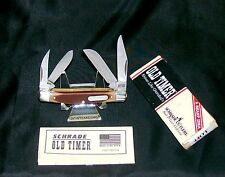"""Schrade 44OT Workmate Knife 1990's Old Timer 3-5/16"""" Closed W/Packaging,Papers"""