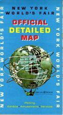 1964 Esso / Humble Oil New York World's Fair Official Detailed Map NOS