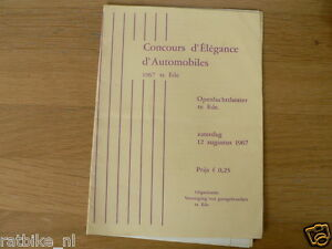 1967 CONCOURS D'ELEGANCE D'AUTOMOBILES TE EDE OPENLUCHTTHEATER 12 AUGUSTUS