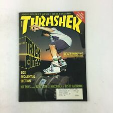 February 1990 Thrasher Magazine Trick City Sick Sequential Section Mark Roach