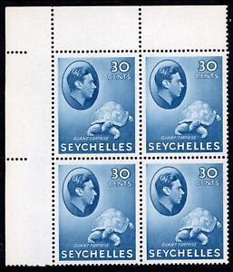 Seychelles 1938 30c Blue Client States SG142a Fourblock MVLH Cat £180