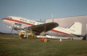 35mm Aircraft Slide Dan Air London G-AMSU Douglas C-47 Skytrain