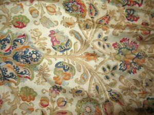 "CHAPS Ralph Lauren Marrakesh multi color Paisley KING Bed skirt dust ruffle 15"""