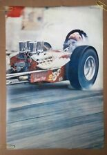 Dragster vintage poster racing pin-up Drag Race Seward's Speed Shop Race Car *69