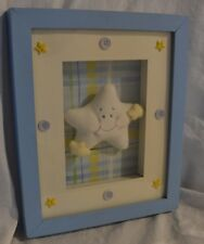 Ash Wall Hanging Shadowbox Baby Room Star Picture Frame 8x10 Collectible New