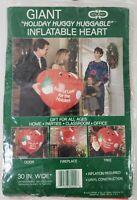 "Vintage Cleo Christmas 30"" Giant Huggy Huggable Inflatable Heart Gibson New"