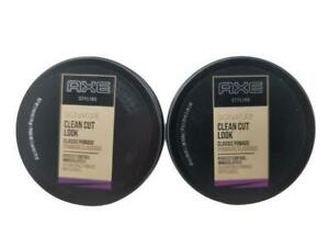 2 Cans AXE Styling Signature Clean Cut Look Hair Classic Pomade Perfect Control