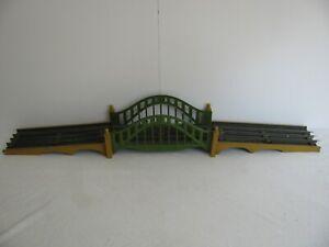 Prewar 1920-31 Lionel Trains Standard Gauge Bridge w/ Approaches & Track #101 EX