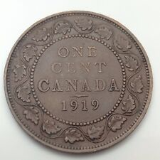 1919 Canada Copper One Cent Penny Circulated Canadian Coin C737