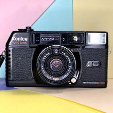 Konica C35 MFD 35mm film camera+hexanon 2.8/38mm lens, Clean Lens Working Order