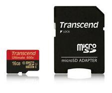 Transcend microSDHC ultimate 600x 16gb + adaptateur 16 Go uhs-1 ts 16 GUSDHC 10u1