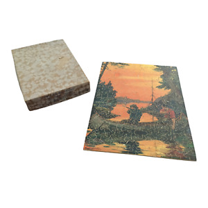 JK Straus Wood Jigsaw Puzzle In Golden Hunting Grounds 950 1930s Hintermeister
