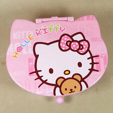 HelloKitty Pink Cosmetic Makeup Bag Case Jewelry Box  2017  New Plastic Bow