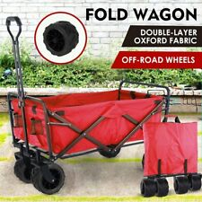 Folding Wagon Collapsible Garden Beach Utility Push Cart Heavy Duty Portable US