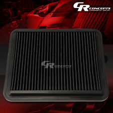 BLACK WASHABLE HIGH FLOW AIR FILTER PANEL FOR 08-12 CHEVY MALIBU 05-09 EQUINOX