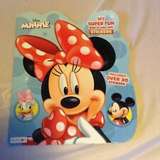 Disney Minnie Mouse Coloring Book With Stickers Tear Out Pages NEW