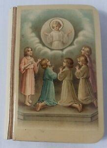 Antique Prayer Book Little Key of Heaven Catholic 1924 Celluloid Cover Belgium