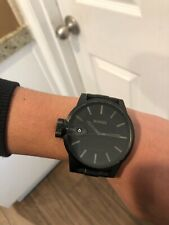 NIXON watch the chronicle magnified matte black