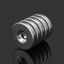 5pcs N35 Strong Disc Neodymium Magnets 25mm x 5 mm Round NdFeB 6mm Hole