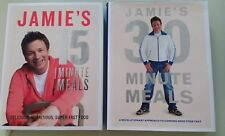 2 X JAMIE OLIVER - 15 AND 30 MINUTE MEALS - FULL SIZE HCDW - COOKBOOKS RECIPES