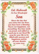 EID MUBARAK OUR WONDERFUL SON Card Islamic/Muslim Gift for Children & Family