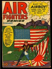 Air Fighters Comics Vol. 2 #5 WWII Flag Cover Golden Age Hillman 1944 GD