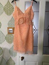Fab Genuine Guess Lace Peach Dress Uk 4 Nwt