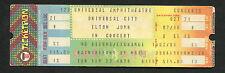 Original 1979 Elton John unused full concert ticket Los Angeles Rocket Man