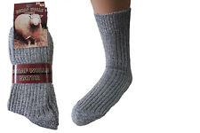 12 Paar Herren Norweger Socken 92% Natur grau Gr. 47/50