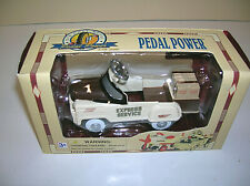 "Golden Wheel Die Cast Metal Express Service Pedal Power Car Beige 4.25"" w/ COA"