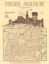 Judges Guild Classic Reprint: Tegel Manor (1E Adventure, w/maps) GMG4610