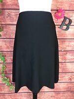 Calvin Klein Skirt size 10 Black Flared A Line Knee Career Church Modest Suit