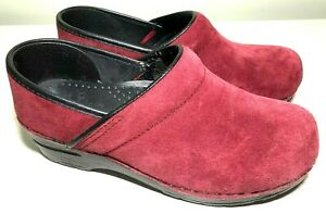 Dansko Womens Size 7.5 / 8 Euro 38 Burgundy Mules Clogs Slip-On Casual Shoe