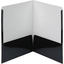Smead Folders 2-Pocket High Gloss Letter-size 25/Bx Black 87874