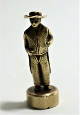 ANTIQUE SEAL WAX SOLID BRASS BARBEITOS FIGURE FIGURINE MAN FROM PORTUGAL  ALENT
