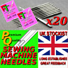 20 X DOMESTIC SEWING MACHINE NEEDLES ALL HOUSEHOLD MODELS SIZE 90/14 , sn/3