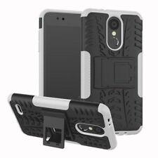 Für LG K9 2018 Hybrid Case 2teilig Outdoor Weiß Etui Tasche Hülle Cover Schutz