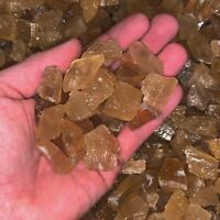 500 Carat Lots of SMALL Citrine Calcite Rough + A FREE Faceted Gemstone