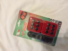 Glow Fuzzy Dice Red Car / Truck / Rv Universal Glo grease Mirror Decoration