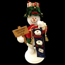 Animated Christmas Figure / Snowman & Christmas Stockings / Puleo / Vintage 2003
